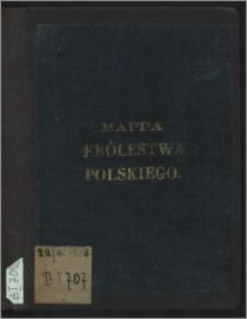 Mappa gubernii Królestwa Polskiego z oznaczeniem odległości na drogach żelaznych bitych i zwyczajnych