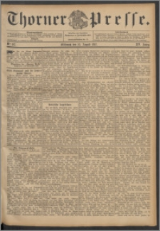 Thorner Presse 1897, Jg. XV, Nro. 197 + Beilage