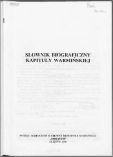 Słownik biograficzny Kapituły Warmińskiej