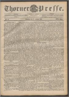Thorner Presse 1899, Jg. XVII, Nr. 42 + Beilage