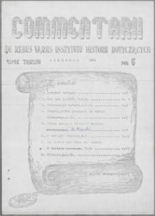 Commentarii de Rebus Variis Instytutu Historii dotyczących 1979 nr 6