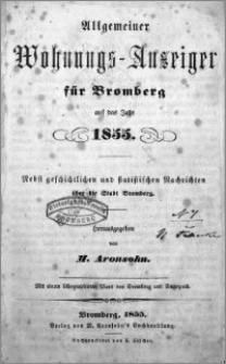 Allgemeiner Wohnungs-Anzeiger fur Bromberg 1855