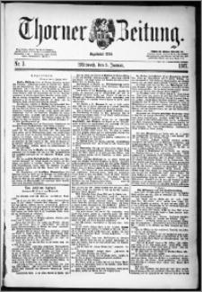 Thorner Zeitung 1887, Nr. 3