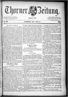 Thorner Zeitung 1887, Nr. 30