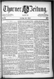 Thorner Zeitung 1887, Nr. 79 + Beilage