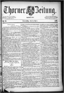 Thorner Zeitung 1887, Nr. 86