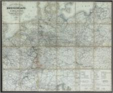 Post- & Reise-Karte von Deutschland und den nachbar Staaten bis Kopenhagen, Dover, Paris, Lyon, Turin, Ferrara, Ofen, Debrecin, Lublin, Grodno, Tauroggen