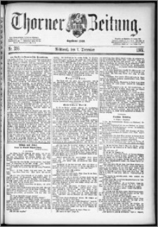 Thorner Zeitung 1887, Nr. 286