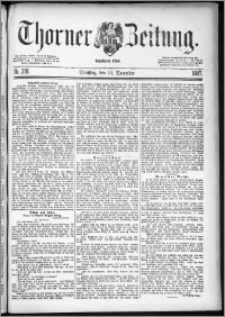 Thorner Zeitung 1887, Nr. 291 + Beilage
