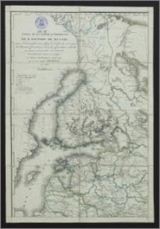 Carte de la partie européenne de l'empire de Russie avec l'indication des chemins de poste, ainsi que des douanes frontières et de la repartition actuelle en gouvernements et districts
