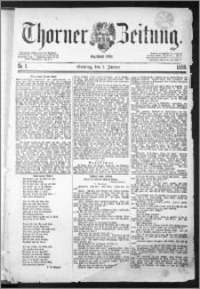 Thorner Zeitung 1888, Nr. 1 + Beilage