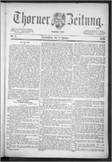Thorner Zeitung 1888, Nr. 4