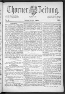 Thorner Zeitung 1888, Nr. 17