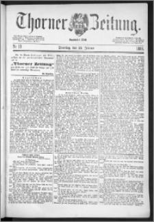 Thorner Zeitung 1888, Nr. 19
