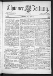 Thorner Zeitung 1888, Nr. 34