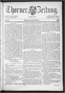 Thorner Zeitung 1888, Nr. 37