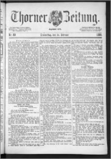 Thorner Zeitung 1888, Nr. 40