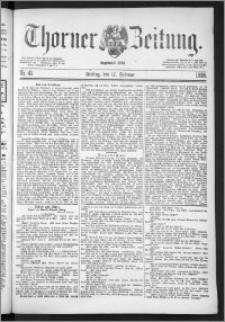 Thorner Zeitung 1888, Nr. 41