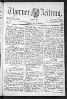 Thorner Zeitung 1888, Nr. 42