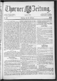 Thorner Zeitung 1888, Nr. 43