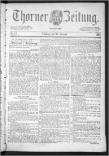 Thorner Zeitung 1888, Nr. 50