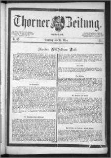 Thorner Zeitung 1888, Nr. 62 + Beilage