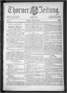 Thorner Zeitung 1888, Nr. 71