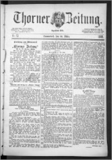 Thorner Zeitung 1888, Nr. 72