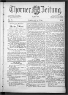 Thorner Zeitung 1888, Nr. 74