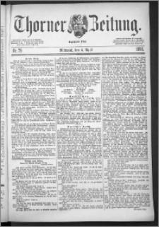 Thorner Zeitung 1888, Nr. 79
