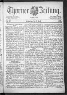 Thorner Zeitung 1888, Nr. 82
