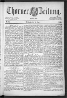 Thorner Zeitung 1888, Nr. 85