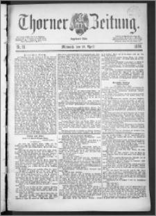 Thorner Zeitung 1888, Nr. 91