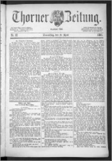 Thorner Zeitung 1888, Nr. 92
