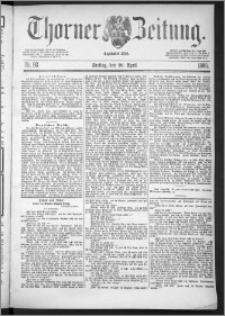 Thorner Zeitung 1888, Nr. 93