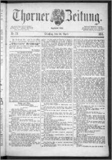 Thorner Zeitung 1888, Nr. 96