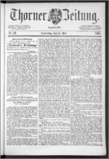 Thorner Zeitung 1888, Nr. 119