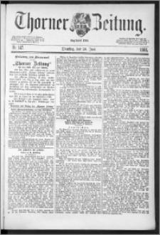 Thorner Zeitung 1888, Nr. 147