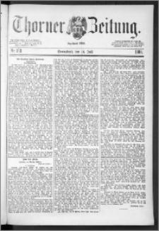 Thorner Zeitung 1888, Nr. 163