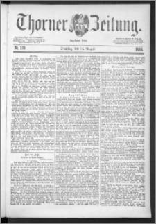 Thorner Zeitung 1888, Nr. 189