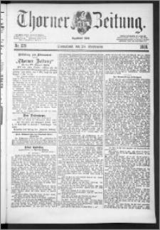Thorner Zeitung 1888, Nr. 229 + Beilagenwerbung