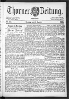 Thorner Zeitung 1888, Nr. 249