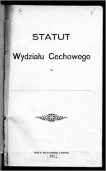 Statut Wydziału Cechowego w...