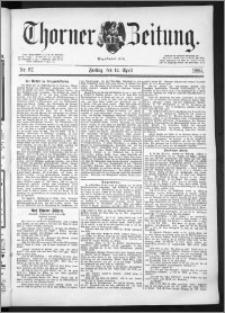 Thorner Zeitung 1889, Nr. 87