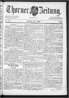 Thorner Zeitung 1889, Nr. 105 + Beilage