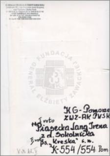 Piasecka Lang Irena