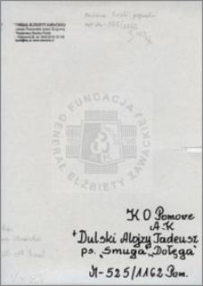 Dulski Alojzy Tadeusz
