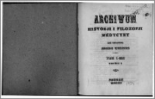 Archiwum Historii i Filozofii Medycyny 1924 t.1 z.1