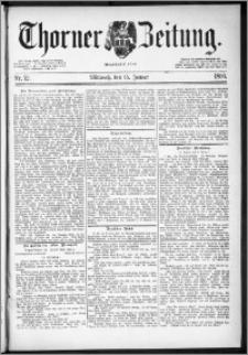 Thorner Zeitung 1890, Nr. 12 + Beilage