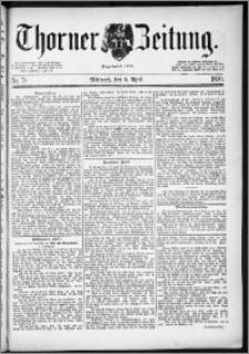 Thorner Zeitung 1890, Nr. 78